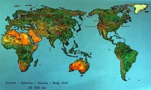 Mapa przedstawiająca trasę podróży.