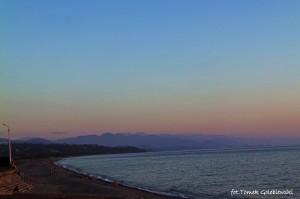 Morze Czarne tuż po zachodzie słońca.