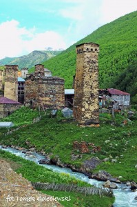 Uszguli, prawdopodobnie najwyżej położona wioska w Europie (2200 m n.p.m.)
