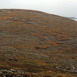 Sporych rozmiarów płaszczyzna, na którą zerka się patrząc w lewo, stojąc plecami do szczytu.