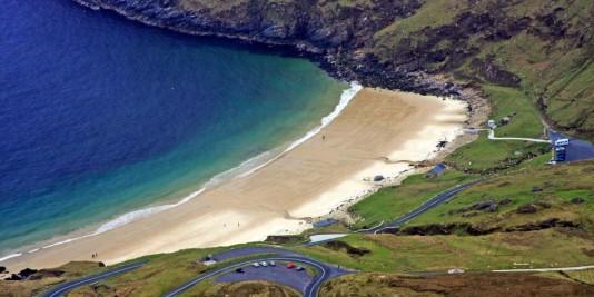 Keem Beach - ostatnia plaża na Wyspie Achill