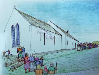 Mieszkańcy przed Kościołem